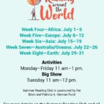 Summer Reading Club: Reading Around The World at the Rancho Mirage Library and Observatory