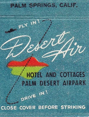 DesertAirHotelmatchbook