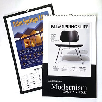 Palm Springs Life Modernism Covers Calendar