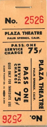 plaza theatre ticket