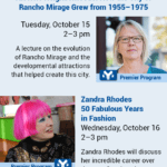 October Lecture Series at The Rancho Mirage Public Library and Observatory