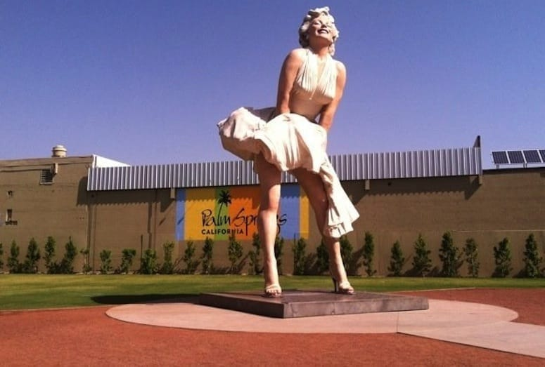 marilyn statue palm srprings
