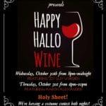 Happy Hallo Wine at The Vine Wine Bar in Palm Desert