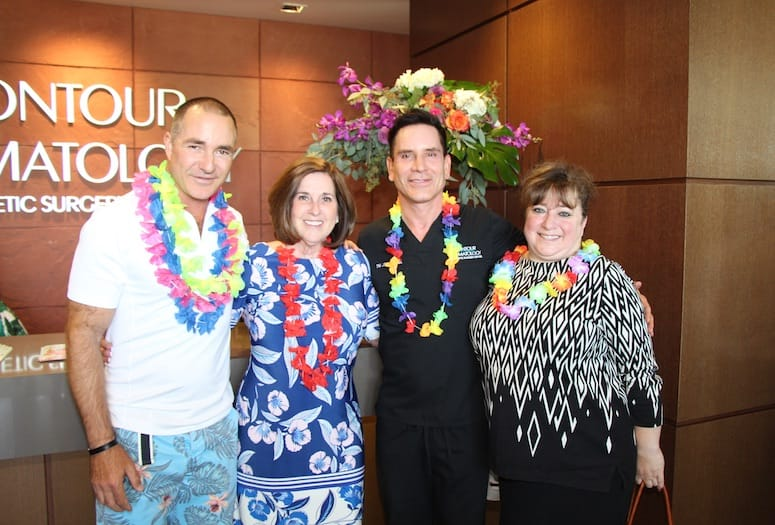 Contour Dermatology Celebrates Day of Beauty, Hawaiian Style