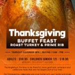 Thanksgiving Buffet Feast: Roast Turkey & Prime Rib at Jackalope Ranch in Indio