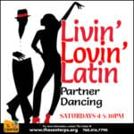 Livin' Lovin' Latin' Partner Dancing on Saturdays at The Center in Palm Springs