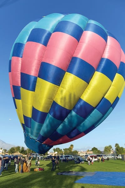 cathedral city hot air balloon