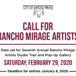 7th Annual Rancho Mirage Artist Studio Tour and Pop-Up Gallery