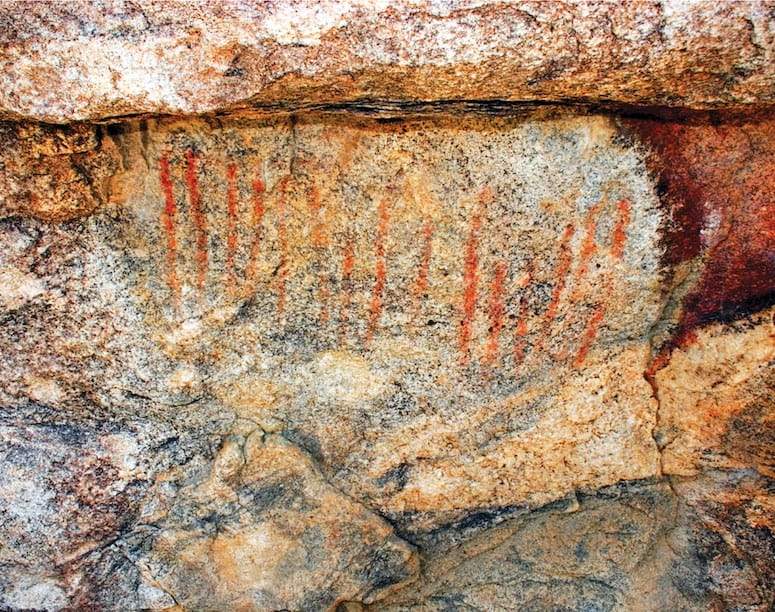 red ocher pictograph