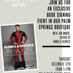 Trina Turk Hosts Legendary GQ Editor Jim Moore's Book Signing in Palm Springs Boutique