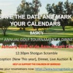 2nd Annual Golf Tournament & Dinner at de Anza Desert Country Club in Borrego Springs