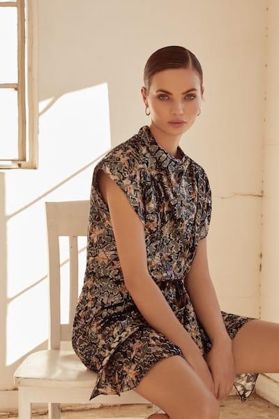 isabel marant skirted blouse