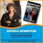 Author Andrea Bernstein Lecture and Book Signing at Historic Camelot Theatres at the Palm Springs Cultural Center