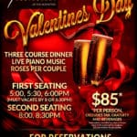 Valentine's Day at Spencer's Restaurant in Palm Springs