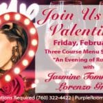Join Us For Valentine's Day at The Purple Room in Palm Springs