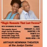 Joslyn Center Sunday Cabaret at The Arthur Newman Theater in Palm Desert