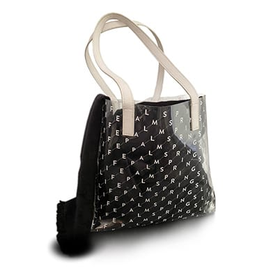 Clear Palm Springs Life Tote Bag