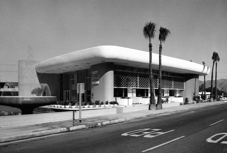 Bank of America Building Has Roots as Dramatic Structure in Palm Springs