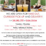 It's Too Hot To Cook: Take Out, Curbside Pick-Up & Delivery Available at Jackalope Ranch in Indio