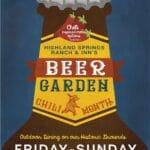 Beer Garden at Highland Springs Ranch & Inn in Cherry Valley