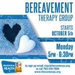12 Week Bereavement Therapy Group at The Center in Palm Springs
