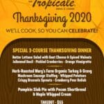We'll Cook & You Celebrate: Thanksgiving 2020 TakeOut at Tropicale Dining & Lounge in Palm Springs