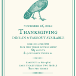 Thanksgiving Dine-In & Take-Out at Mr. Lyons in Palm Springs