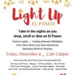 "Shop, Stroll, or Dine on El Paseo, ""Light Up El Paseo"" in Palm Desert"