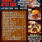 Outdoor Dining plus Pickup & Delivery at Babe's Bar-B-Que at The River in Rancho Mirage