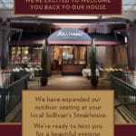 Sit Back & Relax with Our Expanded Outdoor Patio Seating at Sullivan's Steakhouse at The Gardens on El Paseo