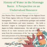 Virtual Event: History of Water in the Morongo Basin: A Perspective on an Undervalued Resource