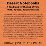 Map for Virtual Event: Desert Notebooks, A Road the End of Time with Author, Ben Ehrenreich