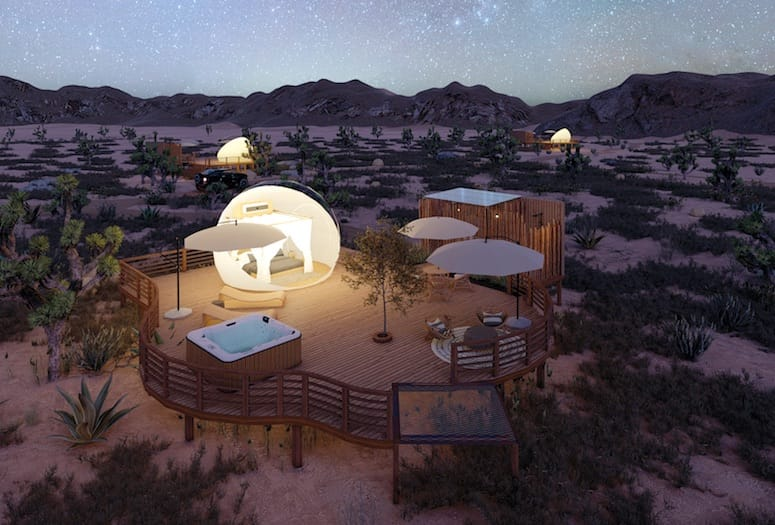 bubble hotels joshua tree