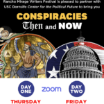 "Zoom Event: Rancho Mirage Writer's Festival, ""Conspiracies - Then and"" Now"