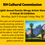 Eight Annual Rancho Mirage Artists Show: A Virtual 3D Exhibition