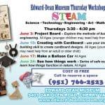 Edward-Deane Museum Thursday Workshops in Cherry Valley