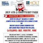 Pig Out In The Park - July 4th at Knott's Sky Park in Twentynine Palms