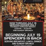Spencer's Restaurant is Open All Summer