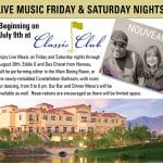 Live Music Friday & Saturday Nights at The Classic Club in Palm Desert