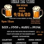 Acoustics and Dinner Under the Stars at The Hood Bar & Pizza in in Palm Desert