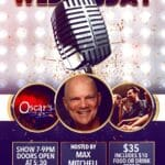 Last Wednesday Comedy Hosted by Max Mitchell  Comes to Oscar's Cafe in Palm Springs